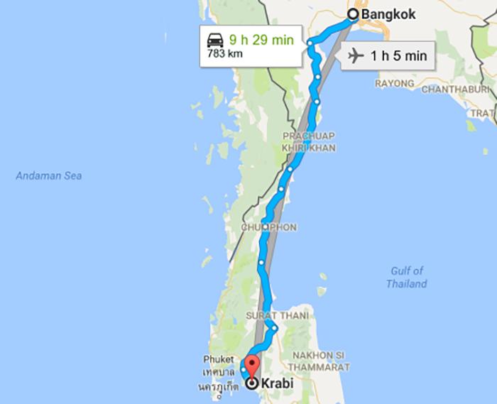 نقشه کرابی تایلند