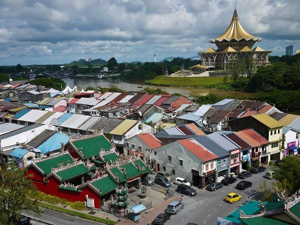 مرکز شهر ساراواک مالزی