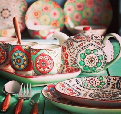 ظرف سفالی سوغات تاجیکستان