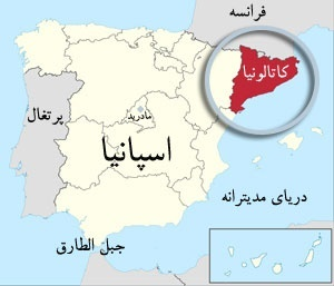 نقشه فارسی کشور اسپانیا