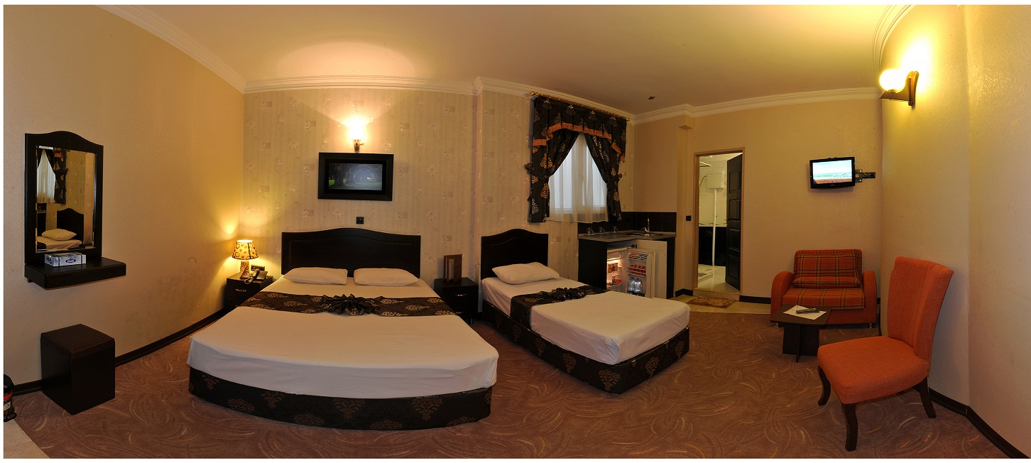 اتاق های هتل آپارتمان آسمان مشهد