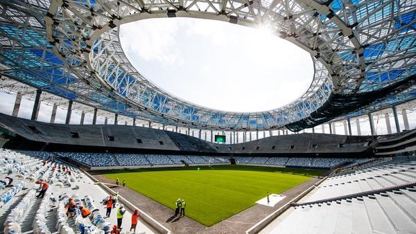 استادیوم نیژنی نووگورود محل برگزاری جام جهانی روسیه 2018