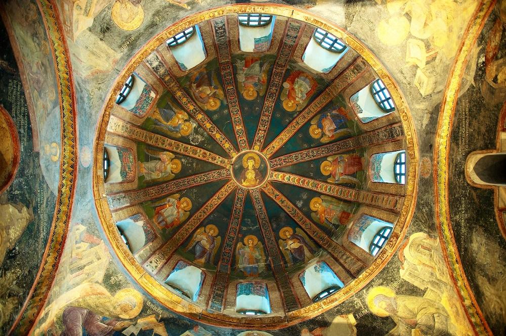 سه قسمت اصلی کلیسا کورا استانبول