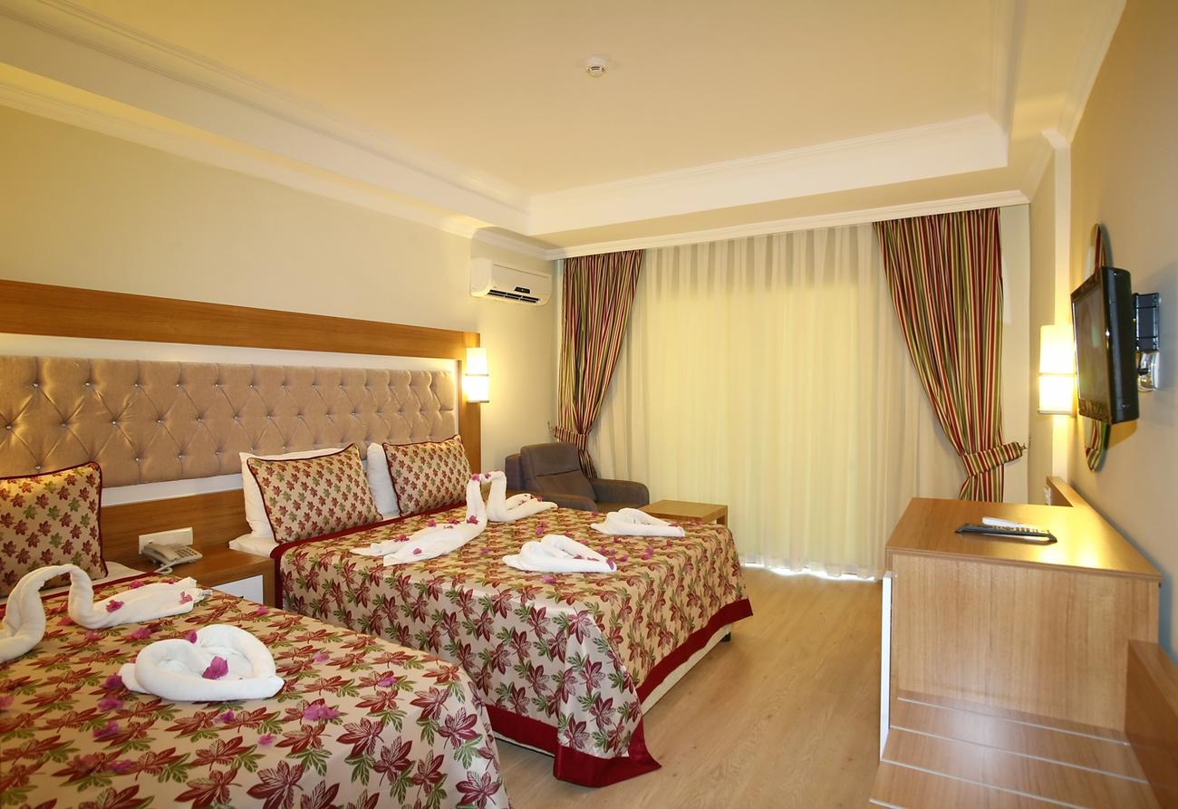 اتاق های هتل هدف ریزورت آلانیا