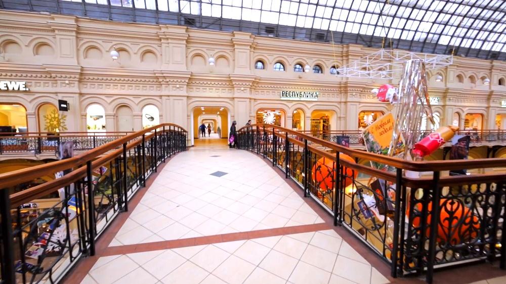 خدمات و امکانات رفاهی مرکز خرید گوم مسکو
