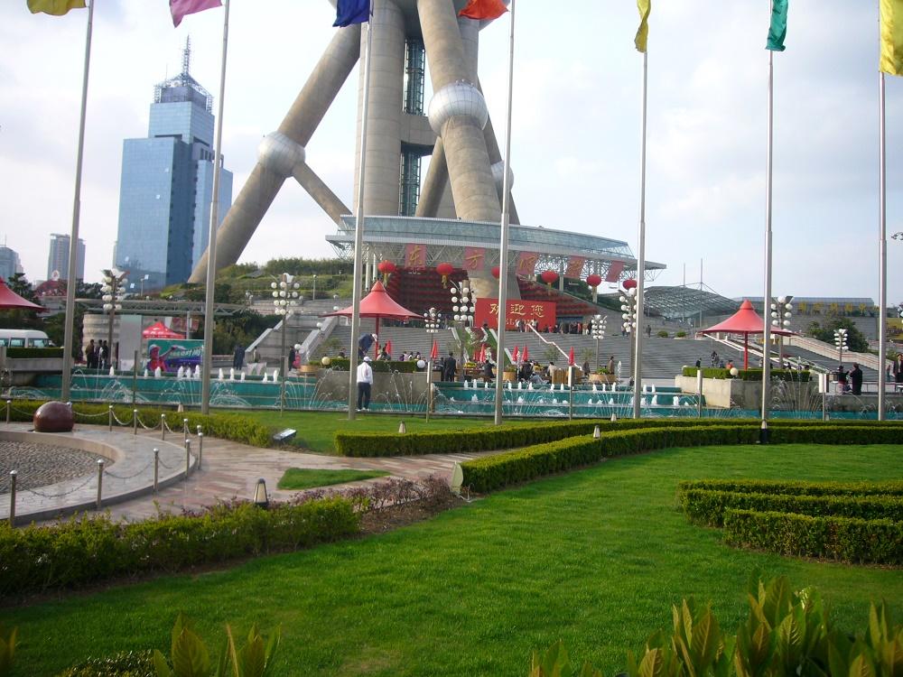 فضای بیرونی برج مروارید شانگهای