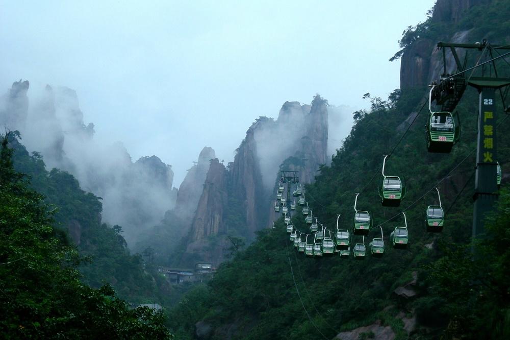تله کابین کوهستان هوانگ شان چین
