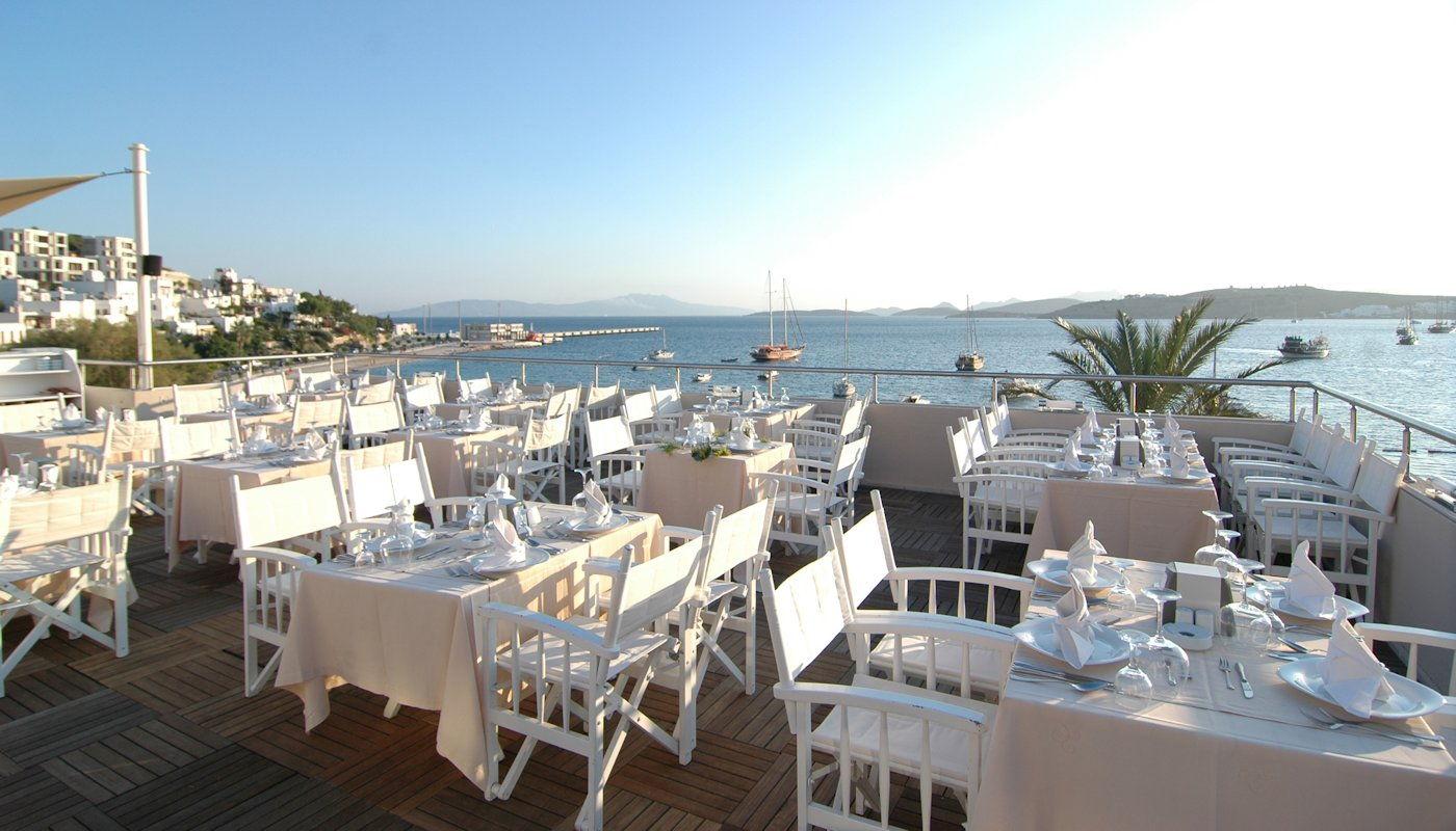 رستوران های هتل دیاموند بدروم ترکیه