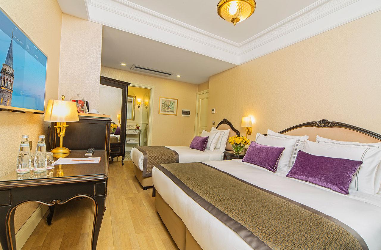 اتاق های هتل مرودی پرا استانبول