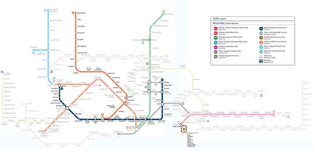مسیر و ایستگاه های مهم تراموا استانبول