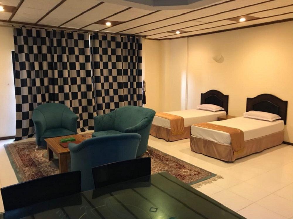اتاق های هتل پارسیان کیش
