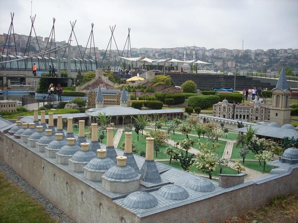 آثار موجود در پارک مينياتورک استانبول