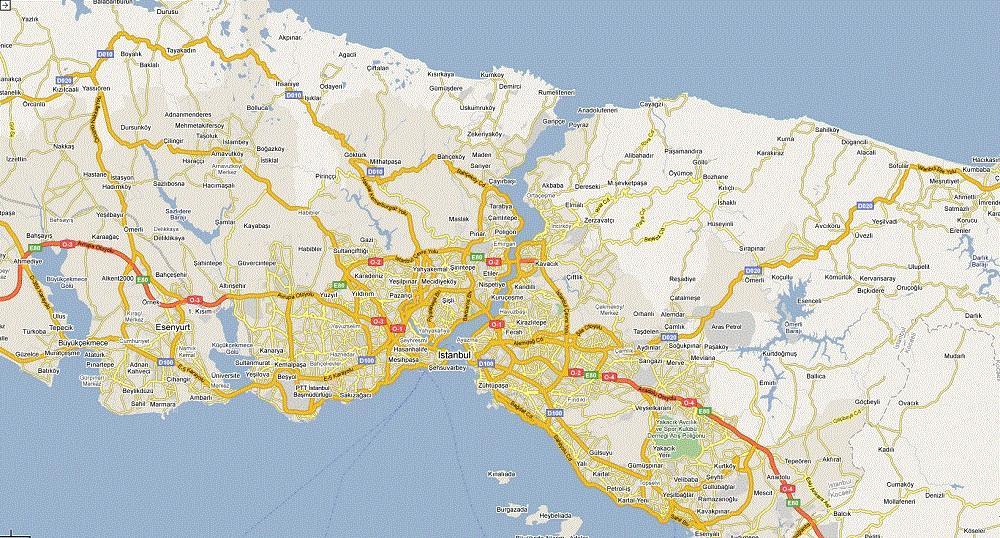 نقشه جامع شهر استانبول