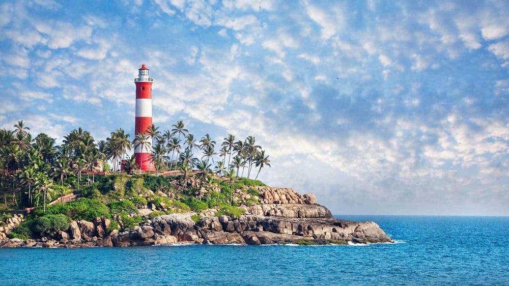 ساحل کووالام در کرالا هند