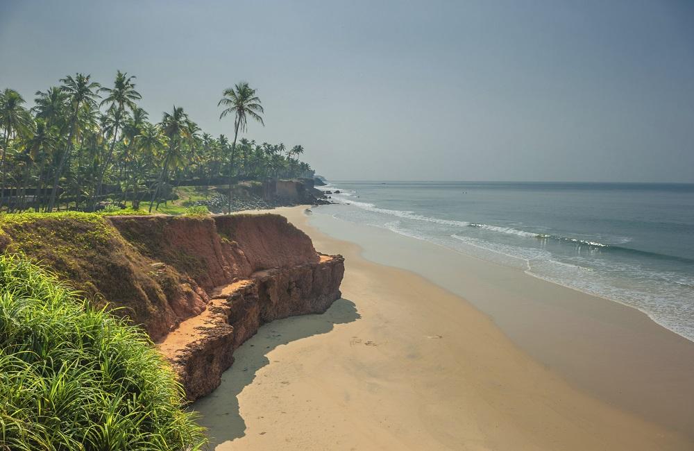 ساحل وارکالا در کرالا هند
