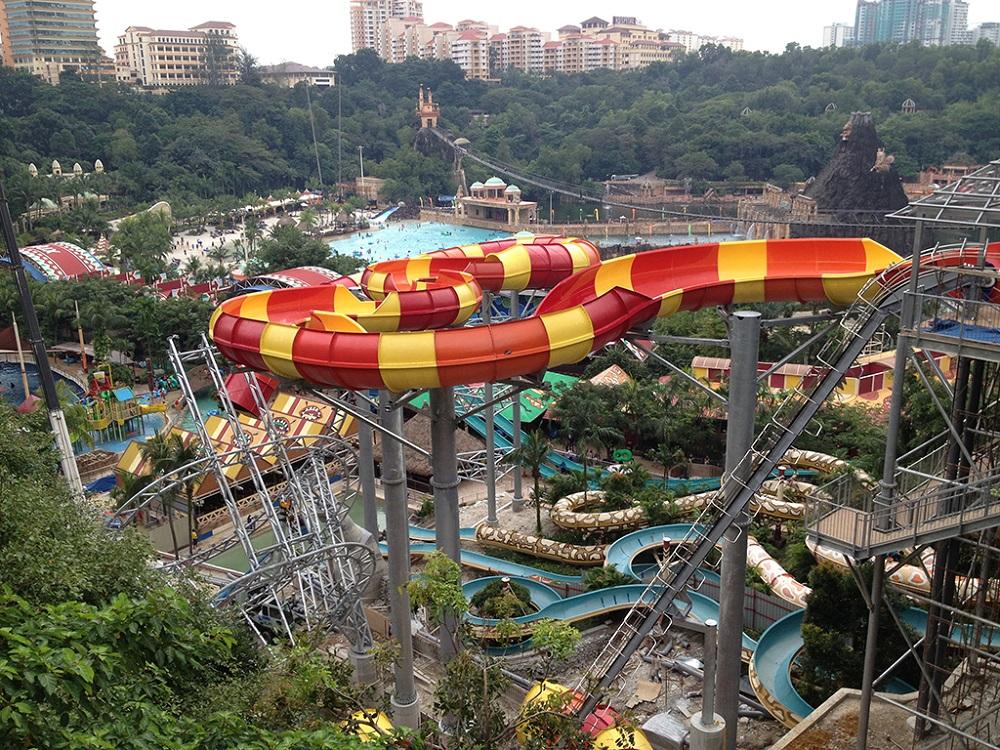 قسمت های مختلف پارک آبی سان وی لاگون مالزی