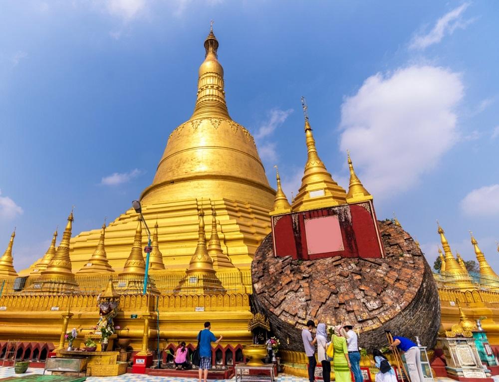 معبد پاگودا شوئی مادا در باگو برمه