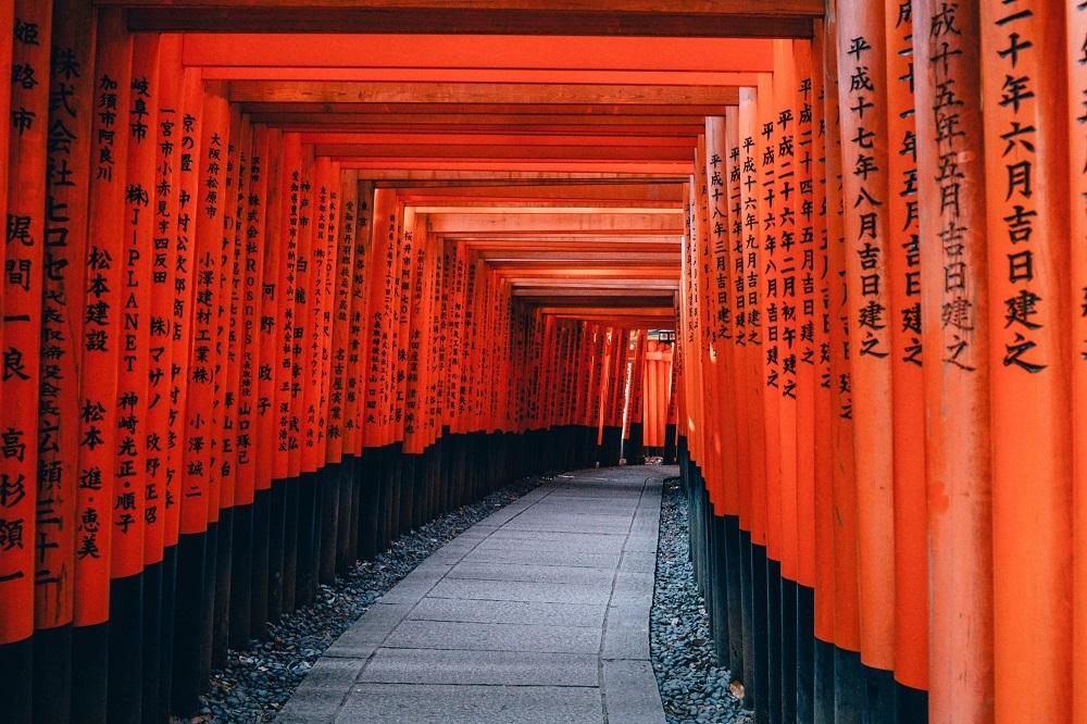 معبد فوشیمی ایناری تایشا فوشیمی-کو در کیوتو ژاپن