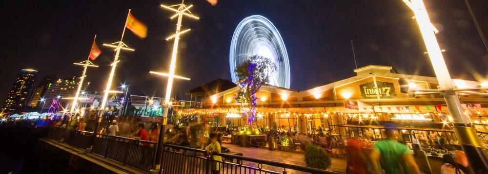 امکانات تفریحی و رستوران های بازار شبانه آسیاتک بانکوک