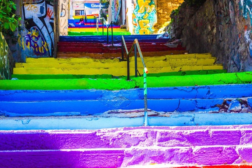 پله های رنگی استانبول