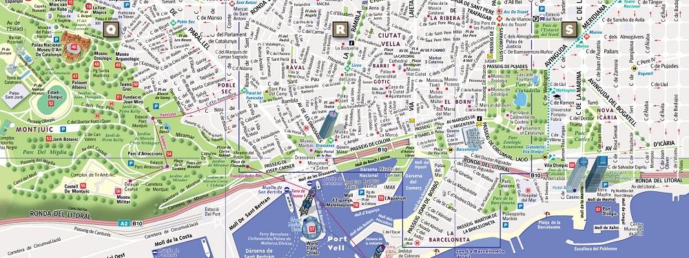 نقشه شهر بارسلونا