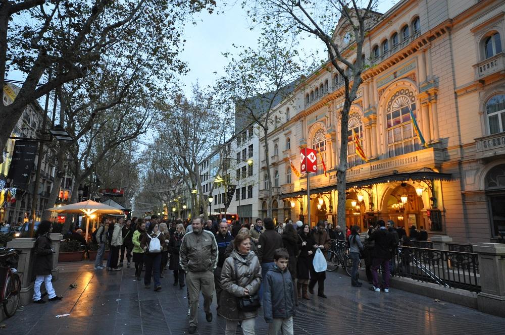 خیابان رامبلا کاتالونیا بارسلونا