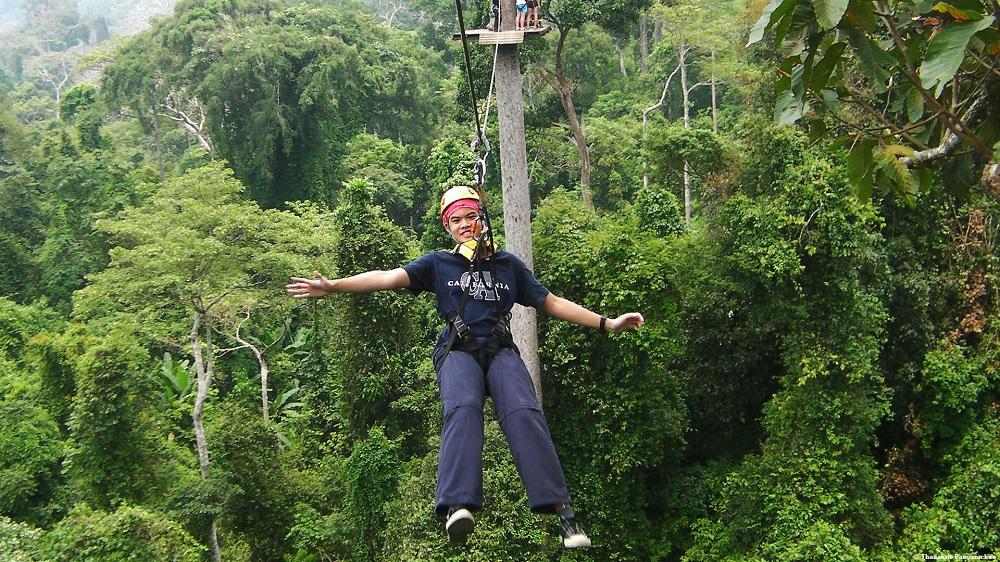 تور پرواز در ارتفاعات جنگل گیبون تایلند