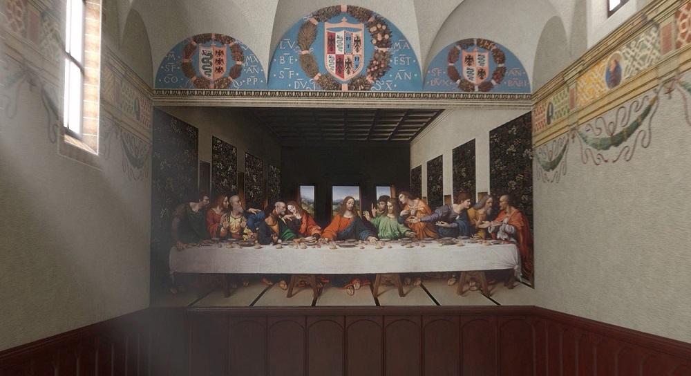 تابلوی شام آخر لئوناردو داوینچی در شهر میلان