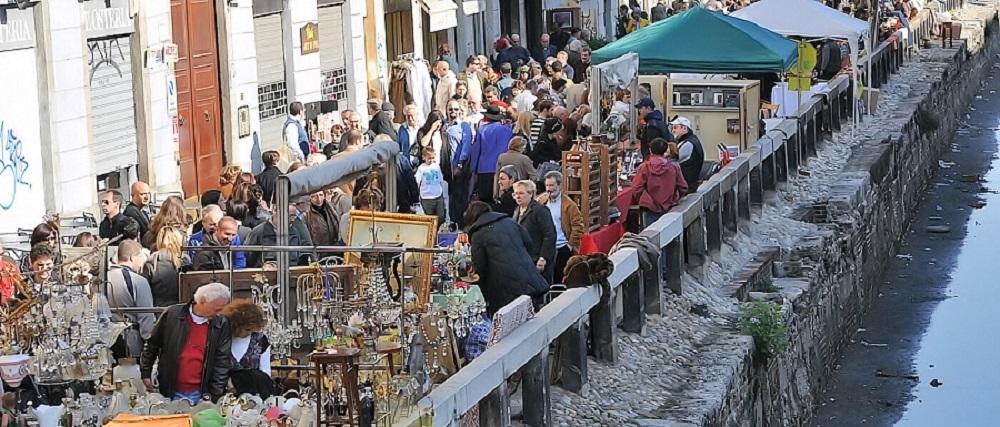 بازار عتیقه جات ناویگلی میلان