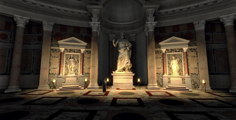 معماری این معبد و مقبره خدایان