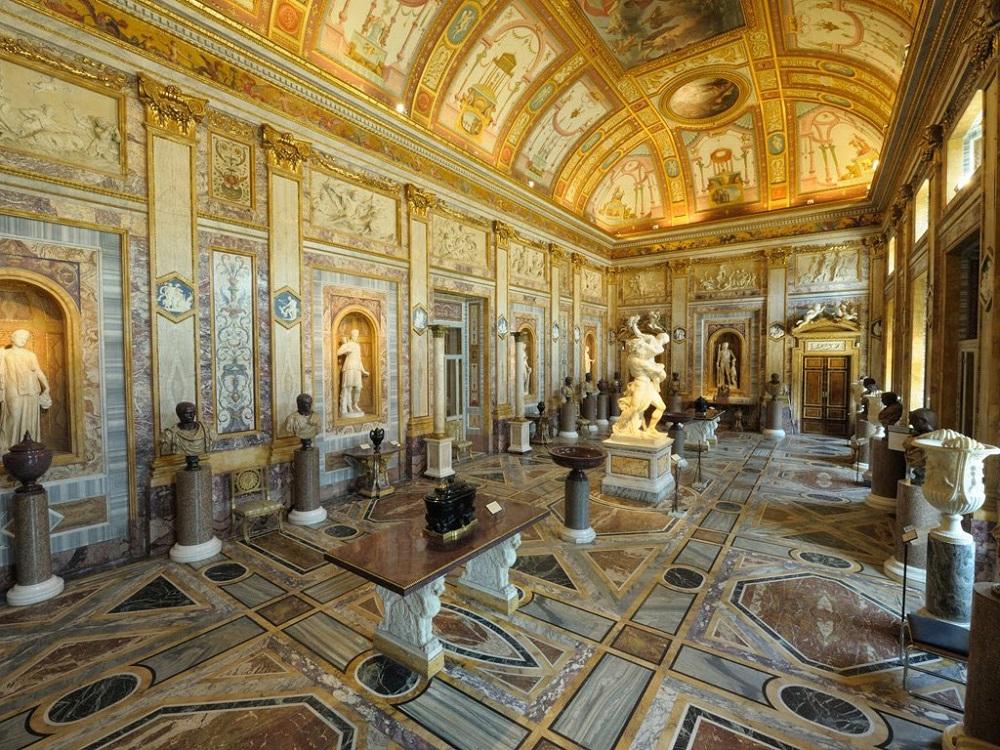 تاریخچه ساخت گالری و باغ های بورگز رم