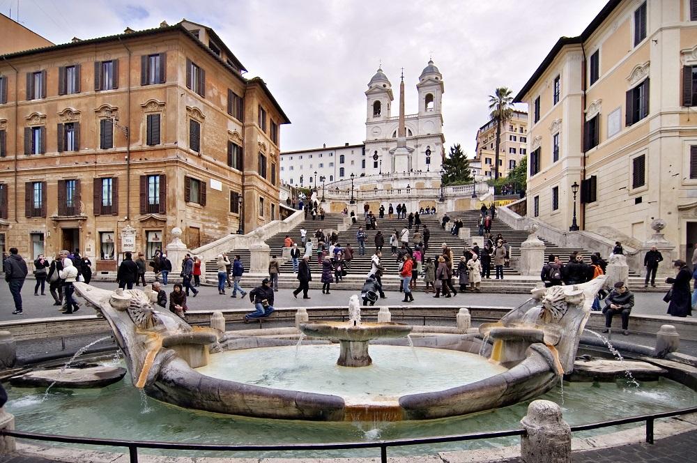 پله های اسپانیایی رم